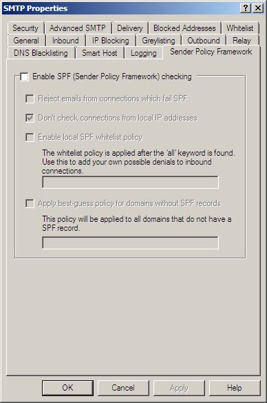 SMTP - Sender Policy Framework (SPF)