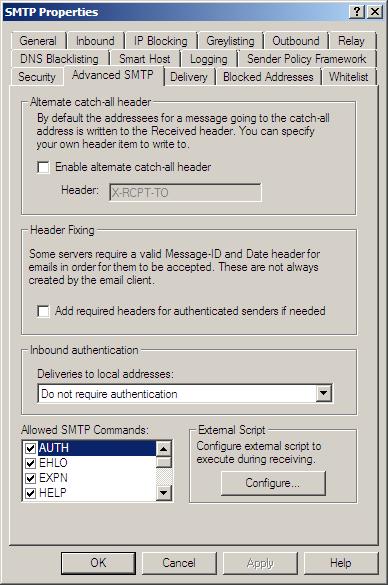 SMTP - Advanced SMTP