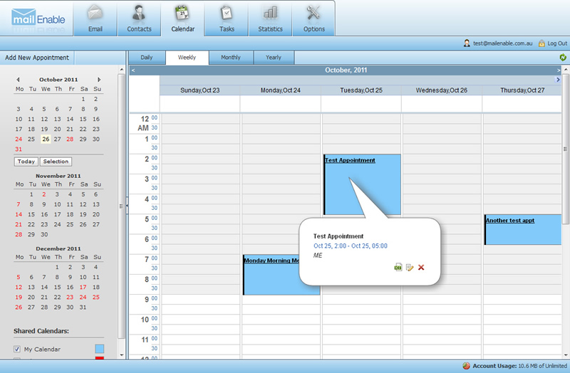 Click to view MailEnable Enterprise Edition 8.60 screenshot