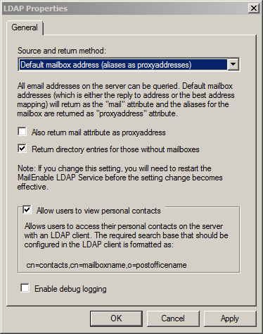LDAP properties