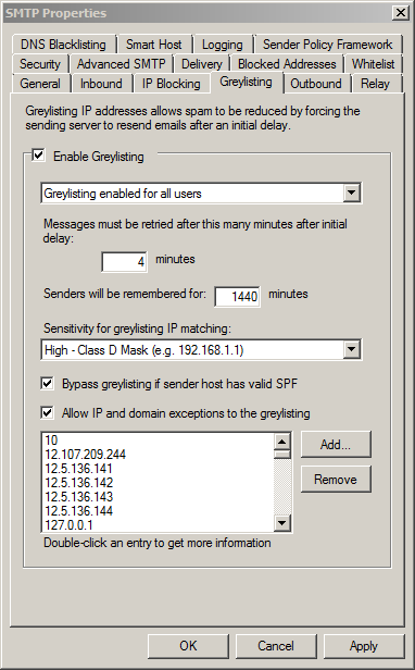 SMTP - Greylisting
