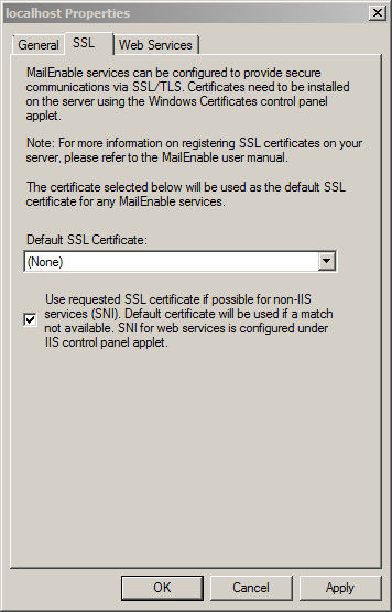 Localhost - Secure Sockets Layer (SSL) encryption