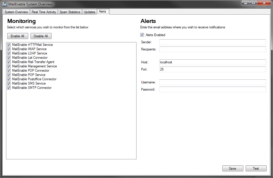 mailenable features administrationmailenable alerting \u0026 monitoring