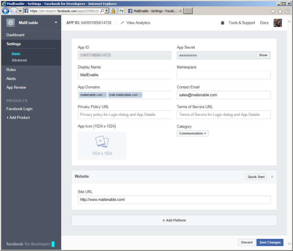 Facebook id login